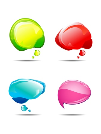 abstract multiple colorful chat balloons illustration Vector