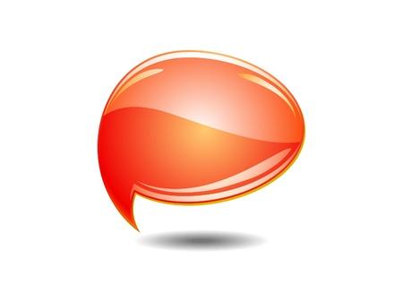 abstract orange chat balloons illustration Vector