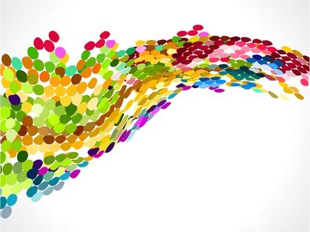 digital wave: abstracto c�rculo colorido arco iris de fondo ilustraci�n