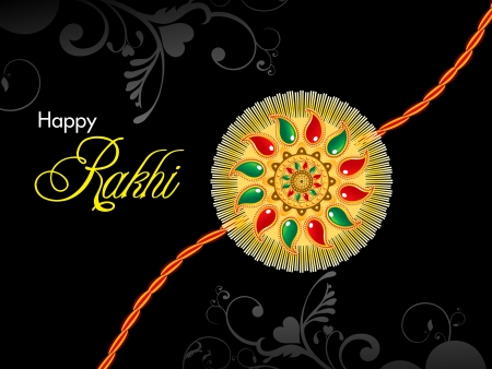 raksha bandhan theme rakhi  illustration Vector