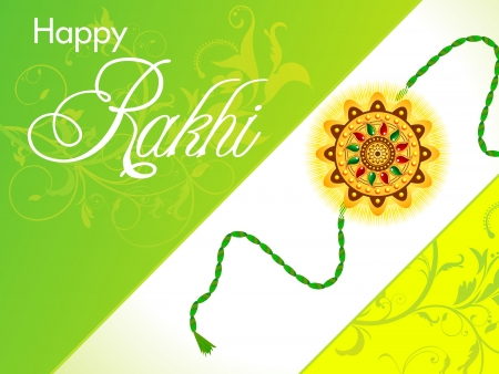 raksha bandhan wallpaper rakhi illustration Vector