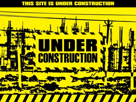 abstract under construction background illustration Vector