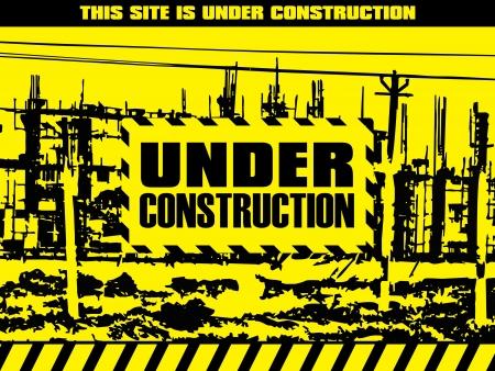 rebuild: abstract under construction background illustration