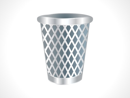 waste basket: abstract trash icon vector illustration