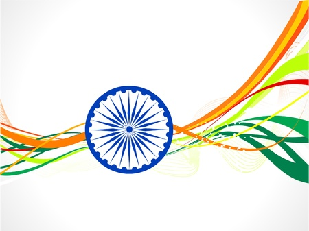 abstract indian flag wave concept  vector illustration Vector
