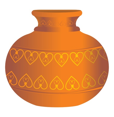 archaeological: extraer agua del suelo floreros ilustraci�n Vectores