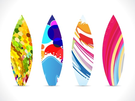 surfboard: abstract colorful surf board icon illustration
