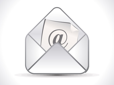 abstract shiny mail icon illustration
