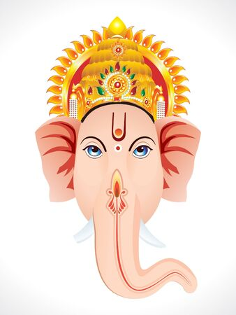 abstract ganesha head concept Vector