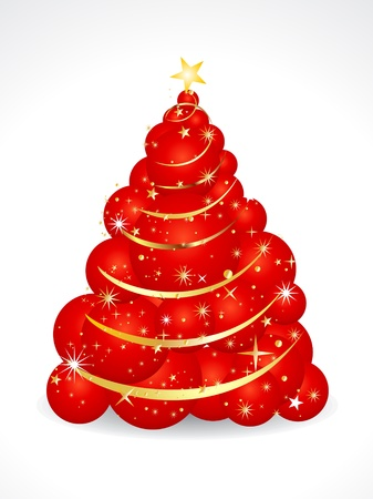 xmas linework: abstract christmas tree of balls