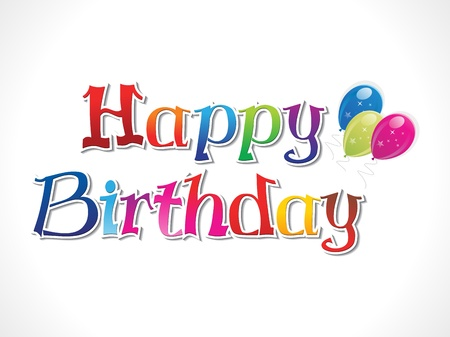 abstract colorful birthday text