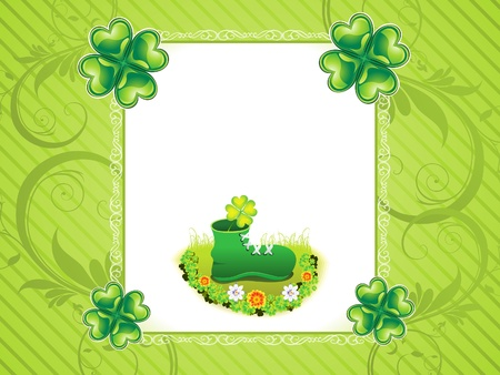 abstract st patrick background Stock Vector - 15319841