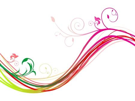 rainbow colours: abstract rainbow floral wave