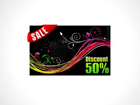 abstract discount card template vector illustration Vector