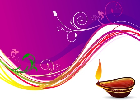 festive occasions: abstract deepawali background Illustration