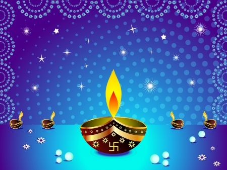 divinit�: diwali abstrait arri�re-plan Illustration