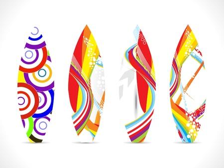 astratto colorato da surf modello di scheda