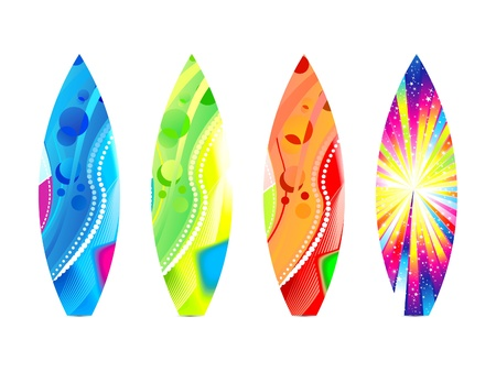 surfboard: abstract colorful surf board template