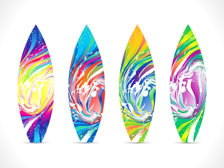 abstract colorful surf board template Vector