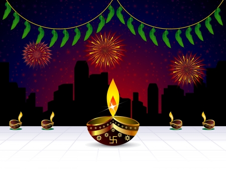 shubh diwali: abstract artistic diwali background illustration