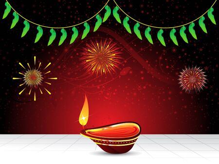 abstract artistic diwali background  illustration Vector