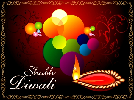 festive occasions: abstract artistic diwali background  illustration