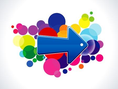 absract: absract colorato icona illustrazione freccia vettore Vettoriali