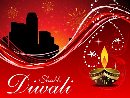abstract diwali wallpaper vector illustration Vector