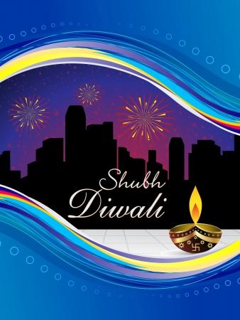 abstract diwali wallpaper vector illustration Stock Vector - 15644781