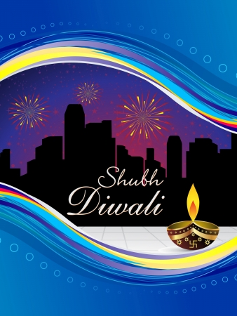 deepawali backdrop: abstract diwali wallpaper vector illustration