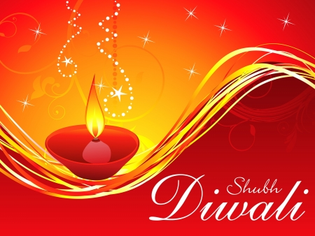 shubh: abstract diwali background template