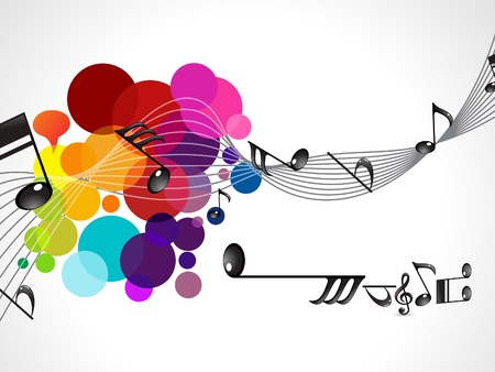 music poster: abstract colorful musical wave