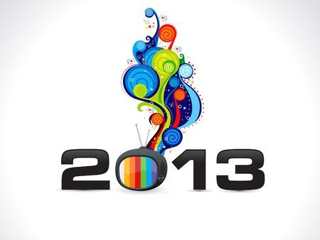 abstract new year wallpaper vector illustration Stock Vector - 15841935