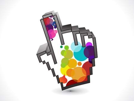 abstract colorful hand icon Vector