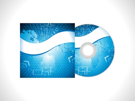 cd label: abstract digital cd cover background vector illustration