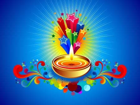 divinit�: diwali abstrait illustration vectorielle arri�re-plan