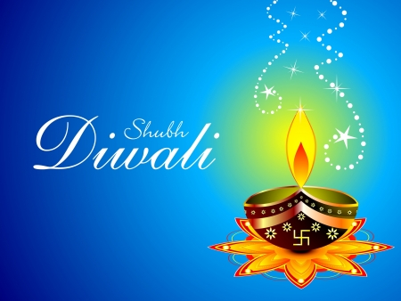 abstract diwali background vector illustration
