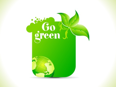 the natural world: abstract go green template vector illlustration