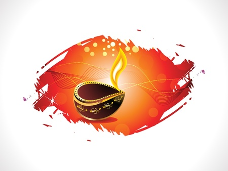 shubh: abstract diwali template vector illustration Illustration