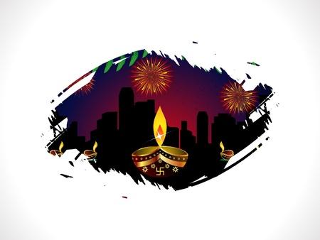 deepawali backdrop: abstract diwali template vector illustration Illustration