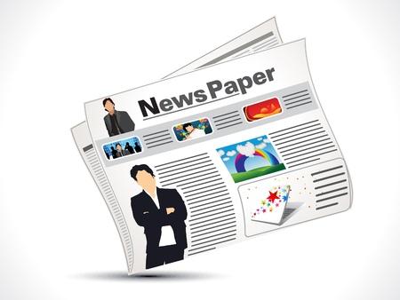 papel abstracto noticia icono ilustración vectorial