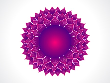 simbolo de paz: chakra corona detallada ilustraci�n vectorial