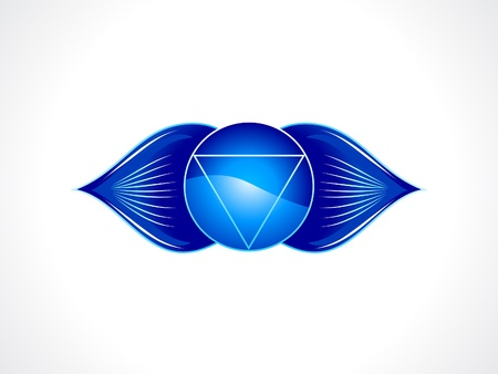 brow: detailed brow chakra vector illustration