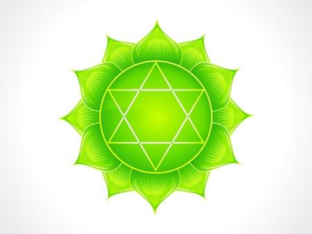 chakra corazón detallada ilustración vectorial