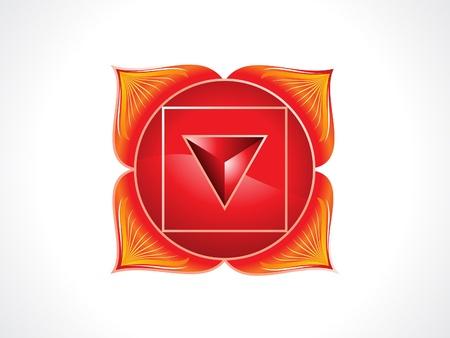 energy healing: detailed root chakra vector illustration