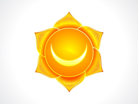 sacral: detailed sacral chakra vector illustration