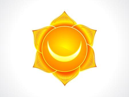 sacral chakra: detailed sacral chakra vector illustration