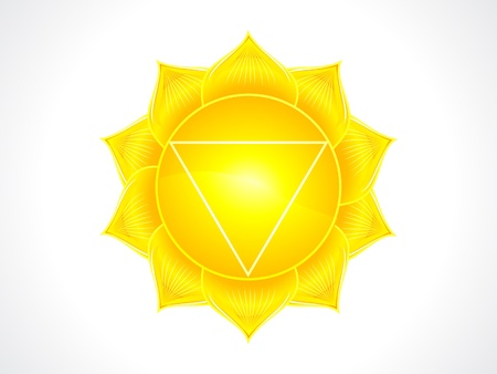 detailed solar plexus chakra vector illustration Stock Vector - 16407183