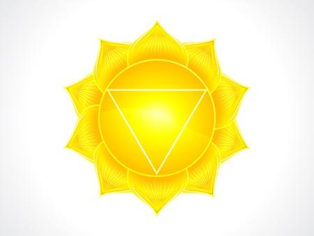 detailed solar plexus chakra vector illustration Stock Vector - 16407183
