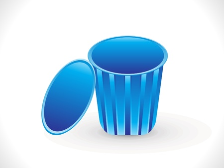 discard: abstract blue trash icon vector illustration